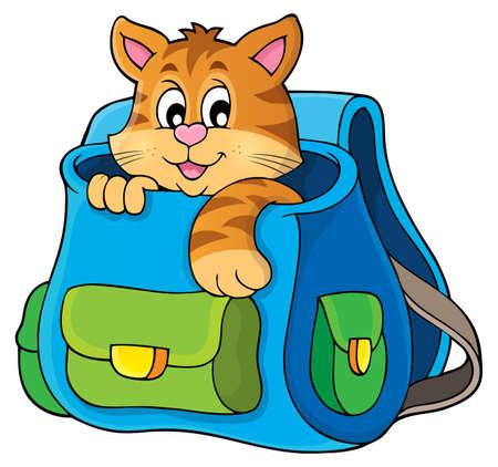 schoolbag: Cat in schoolbag