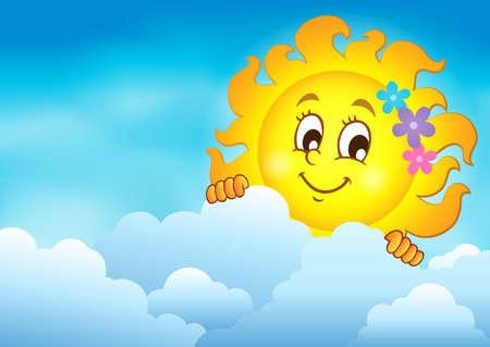 lurk: Cloudy sky with lurking sun