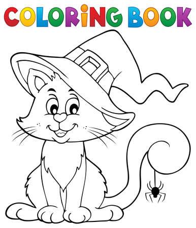 Libro da colorare gatto di Halloween