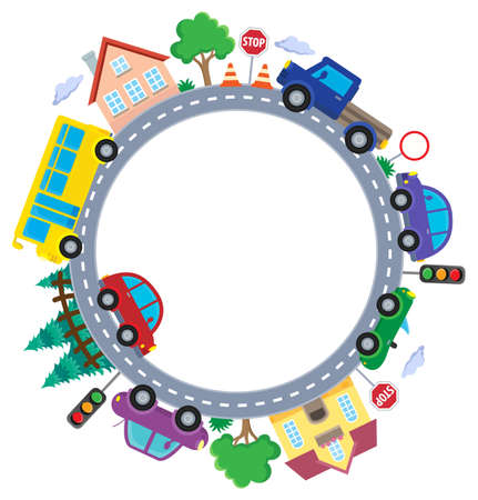 Circle with cars Illustration