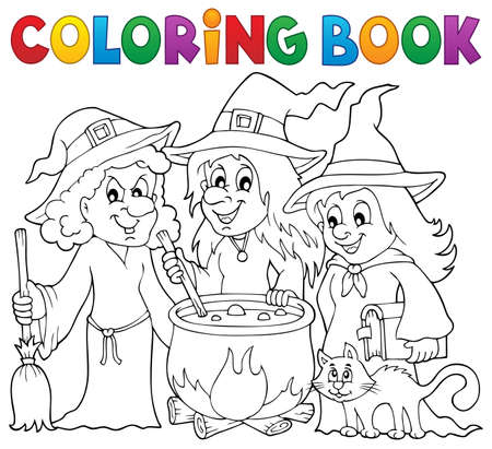 stir: Coloring book three witches