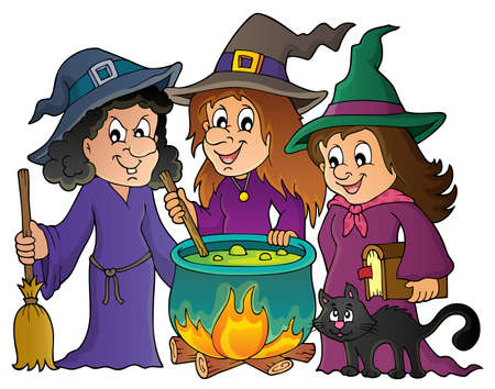 stirring: Three witches theme