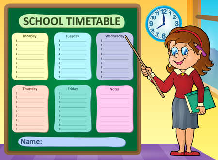 cronograma: calendario semanal de la escuela