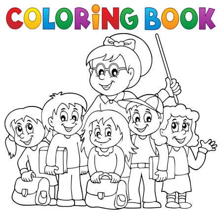 Coloring book school class