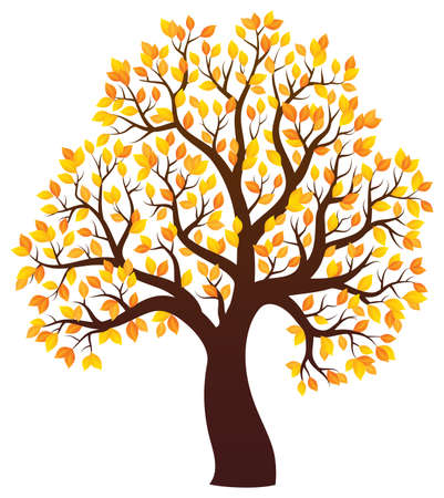 treetop: Autumn tree theme image Illustration