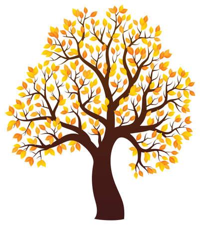 arboles frondosos: Imagen del tema del árbol del otoño Vectores
