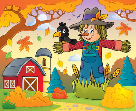 scarecrow: Scarecrow theme image Illustration