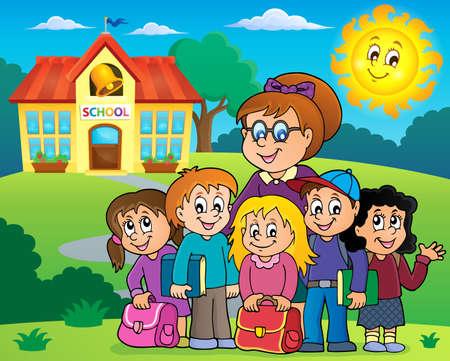 School class theme image