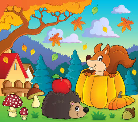 Autumn nature theme image