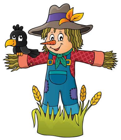 Scarecrow theme image Illustration