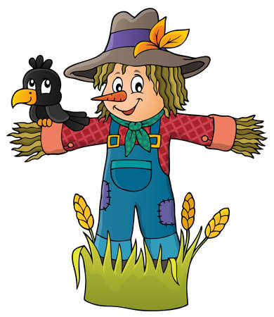 Scarecrow theme image Illustration