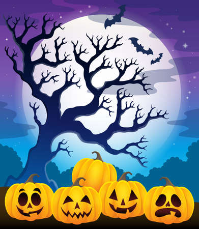 calabazas de halloween: imagen Calabazas tema de Halloween