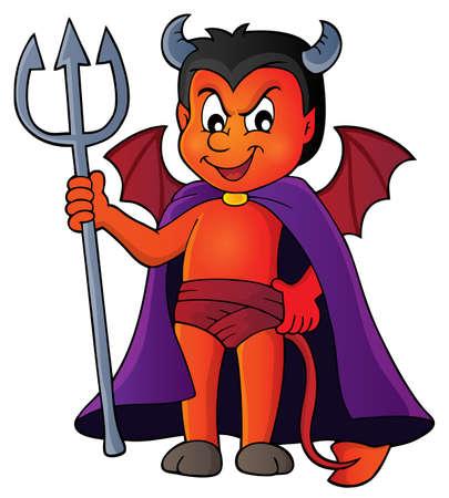 tail: Little devil theme Illustration