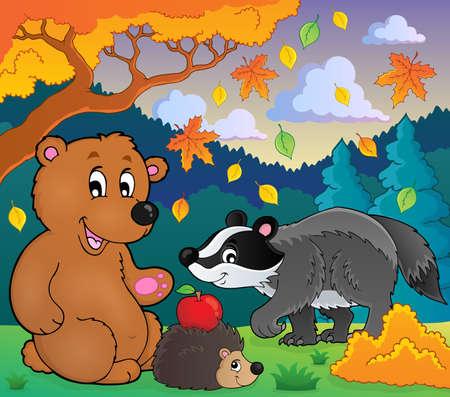 Forest wildlife theme