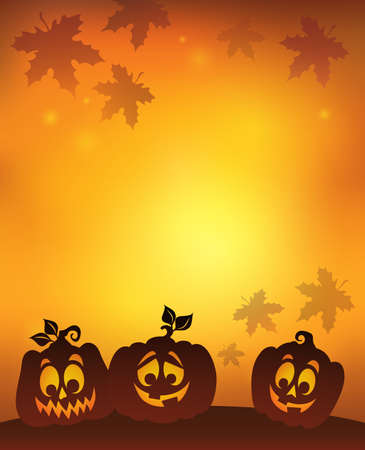 silhouettes: Pumpkin silhouettes Illustration