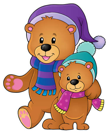 Stylized winter bears