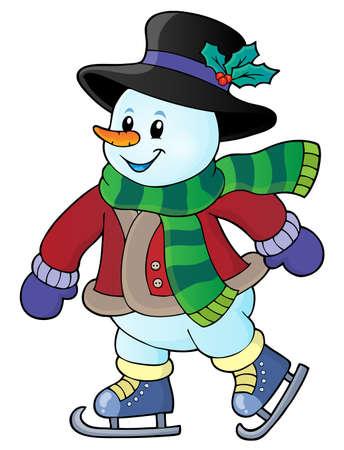 Skating snowman theme