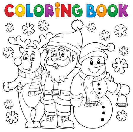 Coloring book Christmas characters