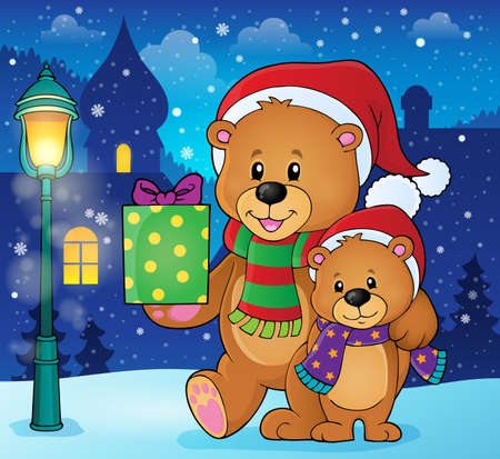 Christmas bears theme