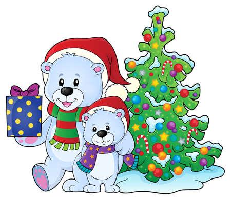 Christmas bears theme
