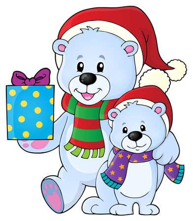 Christmas bears Vector Illustration