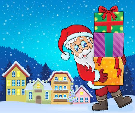 house drawing: Santa Claus Illustration
