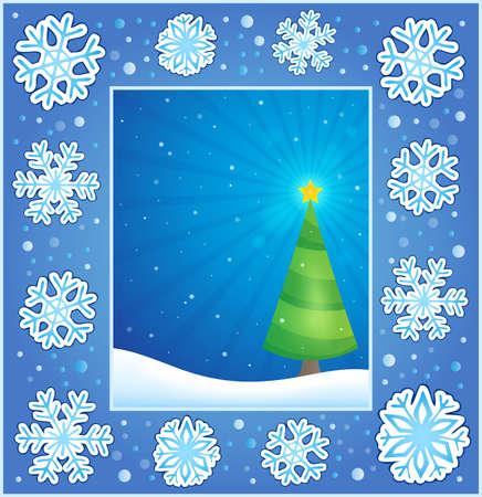 christmas greeting: Christmas subject greeting card Illustration
