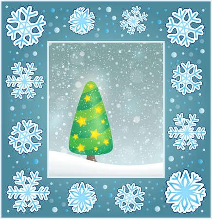 christmas greeting card: Christmas subject greeting card Illustration
