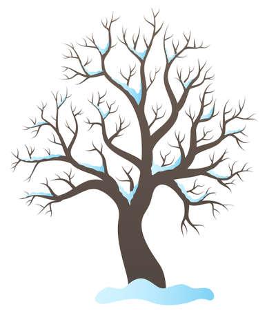 topic: Winter tree topic