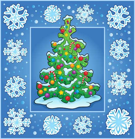 christmas greeting card: Christmas composition greeting card