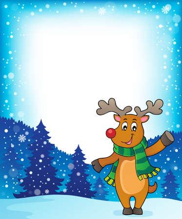 Stylized Christmas deer theme image 2 - eps10 vector illustration.