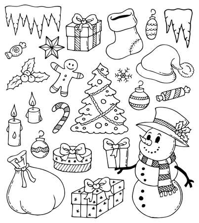 icicle: Christmas stylized drawings 3 - eps10 vector illustration.