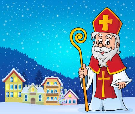 saint nicolas: Saint Nicolas theme image 3 - eps10 vector illustration.
