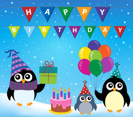 outdoor event: Party penguin theme image 2 - eps10 vector illustration. Illustration