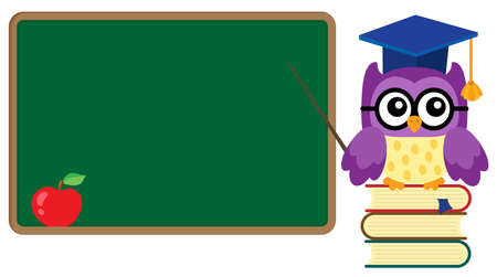 teachings: Stylized school owl theme image 3 - eps10 vector illustration. Illustration