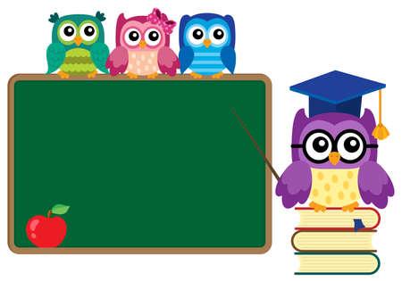 Stylized school owl theme image 4 - eps10 vector illustration. Illustration