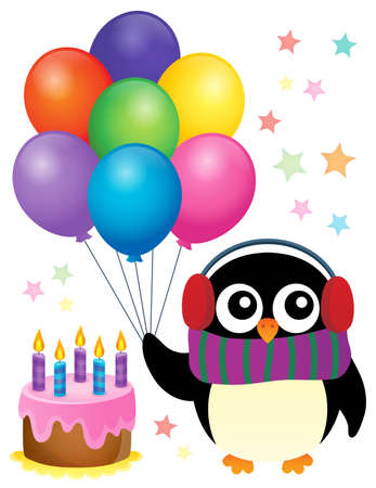 Party penguin theme image 1 - eps10 vector illustration. Stock Vector - 67332399