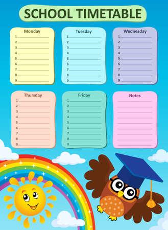 weekly: Weekly school timetable subject 3 - eps10 vector illustration. Illustration