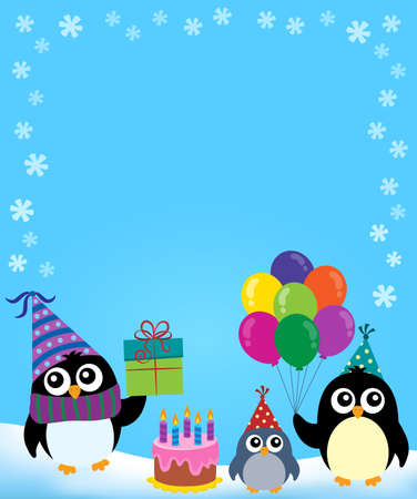 Party penguin theme image 3 - eps10 vector illustration.