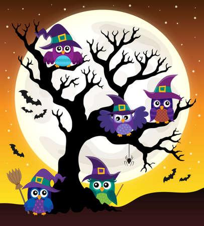 Owl witches theme image 4 - eps10 vector illustration. Illustration