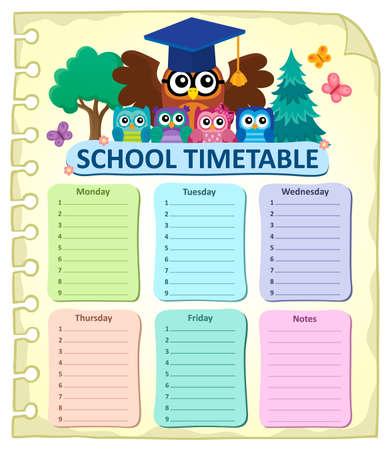 weekly: Weekly school timetable subject