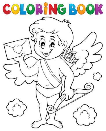 Libro Para Colorear San Valentín Ilustraciones Vectoriales, Clip Art ...