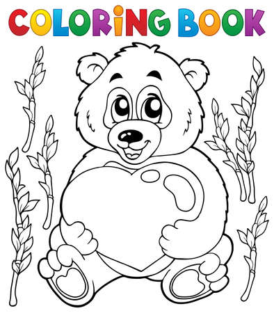 topic: Coloring book Valentine topic 4 - eps10 vector illustration. Illustration