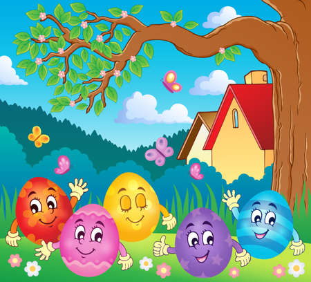 Happy Easter eggs theme image 4 - eps10 vector illustration. Illustration