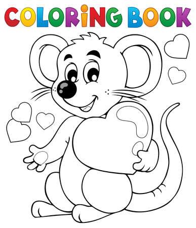 Coloring book Valentine topic 1 - eps10 vector illustration. Illustration