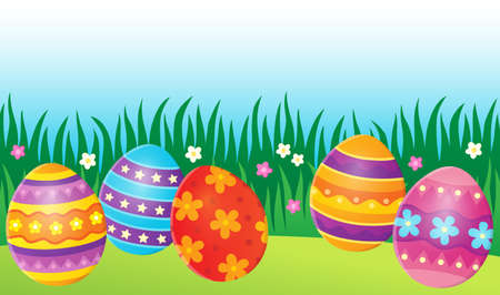 vector eggs: Decorated Easter eggs theme image 7 - eps10 vector illustration. Illustration