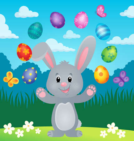 Stylized Easter bunny theme image 6 - eps10 vector illustration.