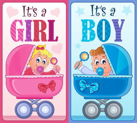 it's: Its a girl or boy theme illustration.