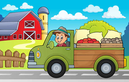 Farm truck theme image