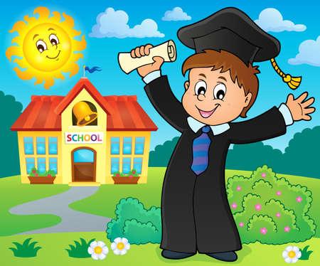 robe: Graduation theme image Illustration